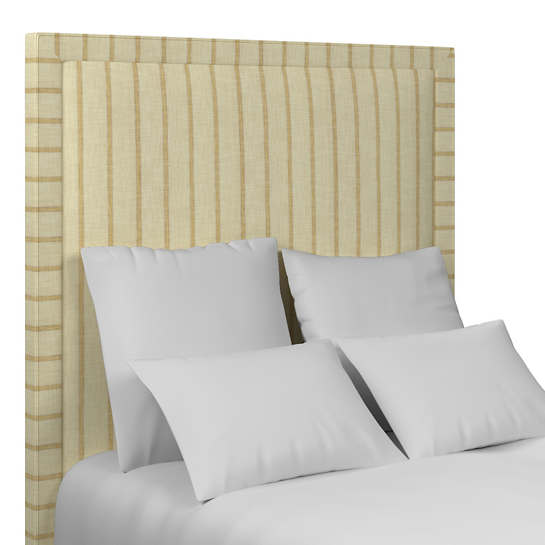 Glendale Stripe Gold/Natural Stonington Headboard