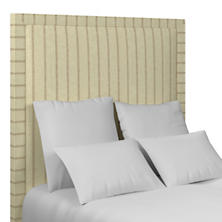 Glendale Stripe Natural/Grey Stonington Headboard