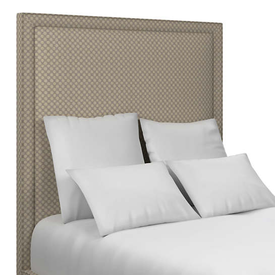 Sophie Embroidery Grey Stonington Headboard