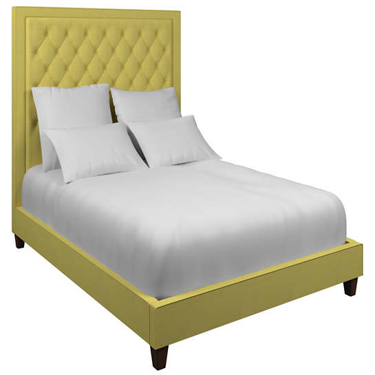 Estate Linen Citrus Stonington Tufted Bed