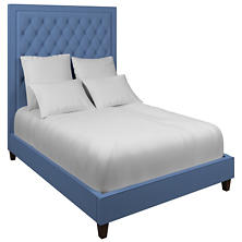 Estate Linen French Blue Stonington Tufted Bed