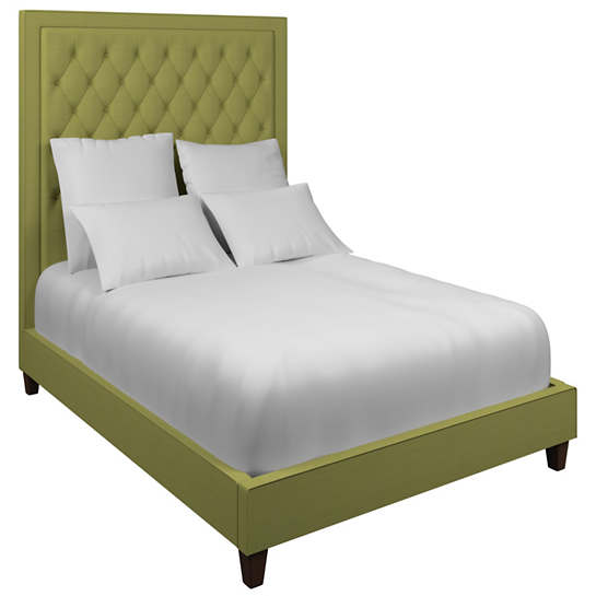 Estate Linen Green Stonington Tufted Bed