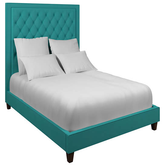 Estate Linen Turquoise Stonington Tufted Bed