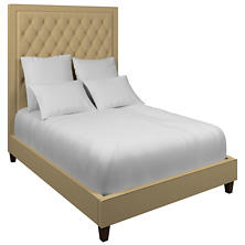 Estate Linen Wheat Stonington Tufted Bed