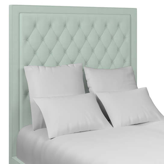 Estate Linen Powder Blue Stonington Tufted Headboard