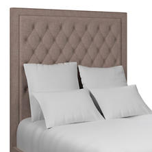 Canvasuede Heather Stonington Tufted Headboard