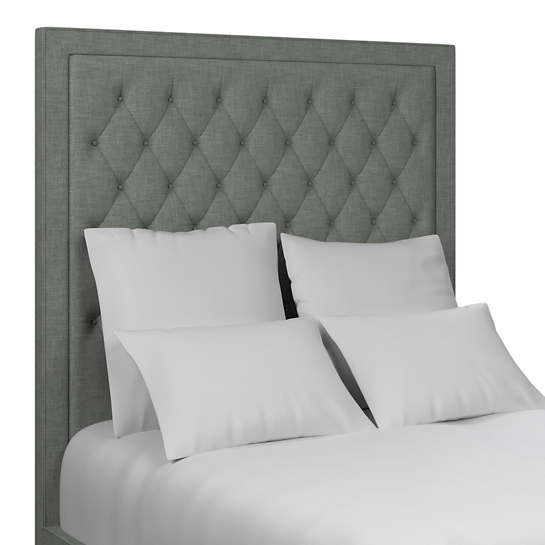 Canvasuede Ocean Stonington Tufted Headboard