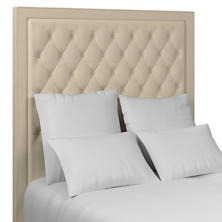 Checkered Cream/Natural Stonington Tufted Headboard
