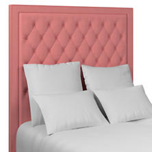 Estate Linen Coral Stonington Tufted Headboard