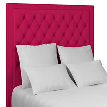 Estate Linen Fuchsia Stonington Tufted Headboard