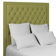 Estate Linen Green Stonington Tufted Headboard