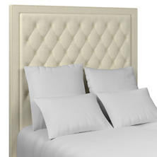 Estate Linen Ivory Stonington Tufted Headboard