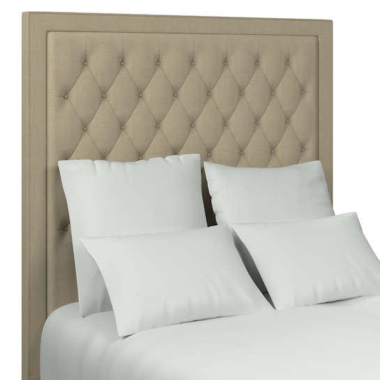 Estate Linen Natural Stonington Tufted Headboard