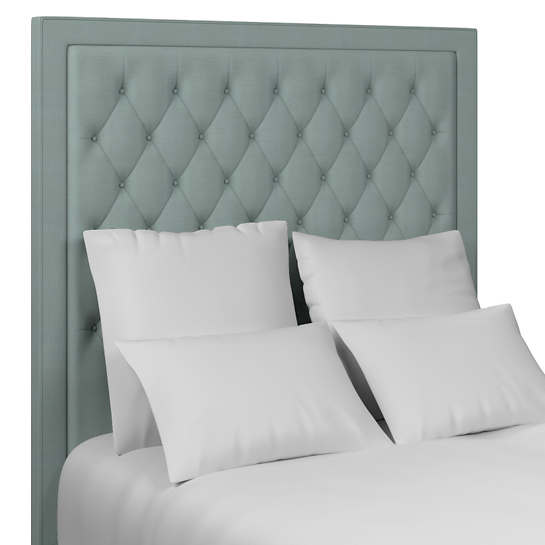 Estate Linen Sky Stonington Tufted Headboard