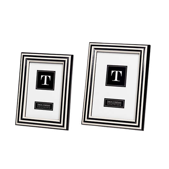 Stripe Black/White Frame/Set Of 2