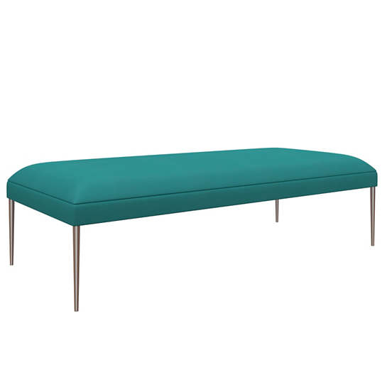 Estate Linen Turquoise Swanson Bench