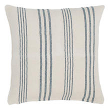 Swedish Stripe Woven Cotton Decorative Pillow