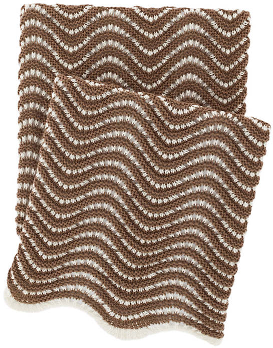 Swell Knit Mocha Throw