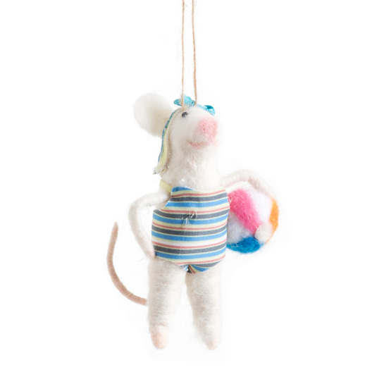 Swimmer Gal Mouse Ornament