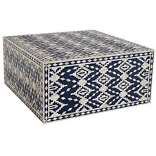 Dulari Ikat Indigo Coffee Table