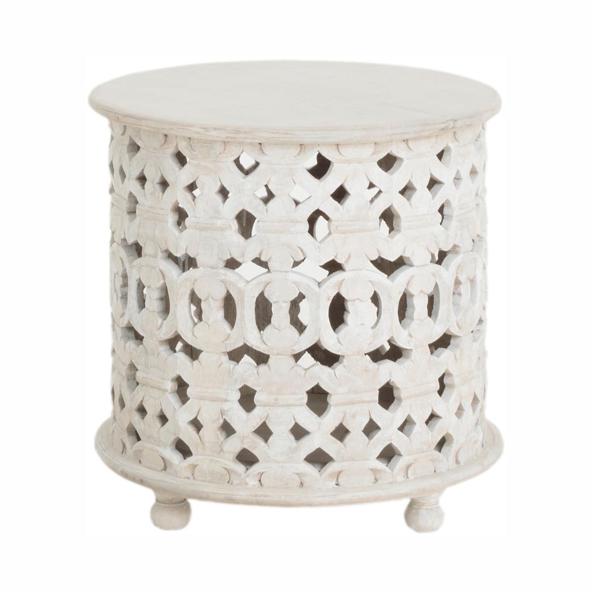 Goya Carved Side Table