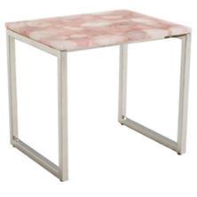 Rose Quartz Geode Table