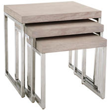 Trilogy Wood Nesting Tables/Set Of 3
