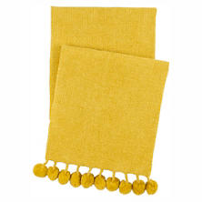 Bauble Chenille Gold Throw