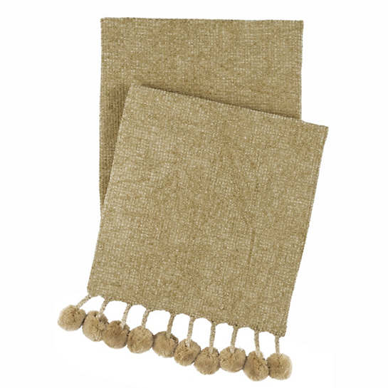 Bauble Chenille Vetiver Throw