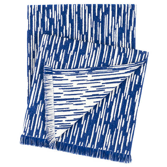 Corinth Chenille Blue Throw