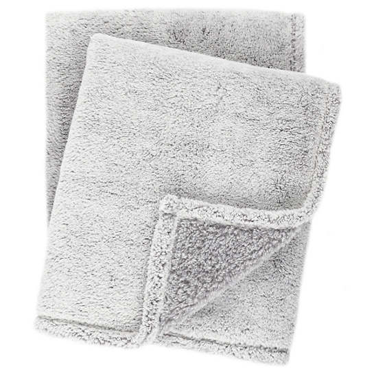 Heathered Fleece Grey Throw