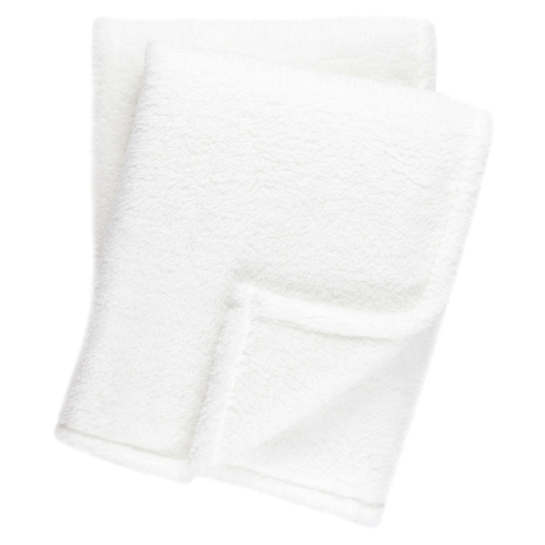 Heathered Fleece White Throw