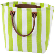 Trimaran Stripe Apple/White Tote Bag