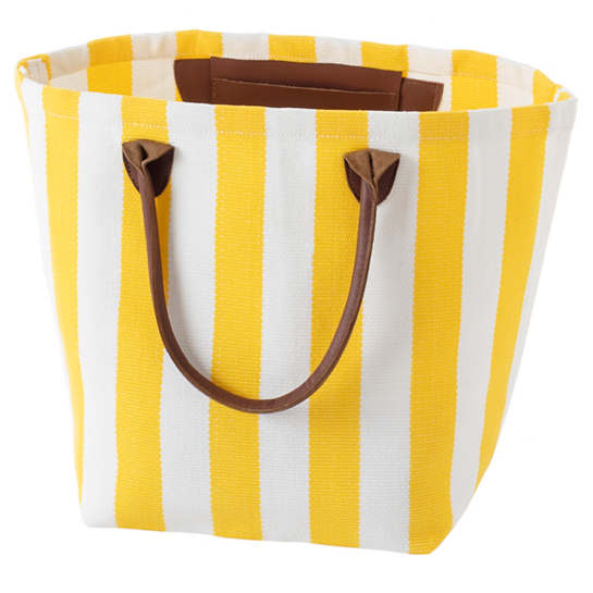 Trimaran Stripe Daffodil/White Tote Bag