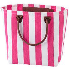 Trimaran Stripe Fuchsia/White Tote Bag