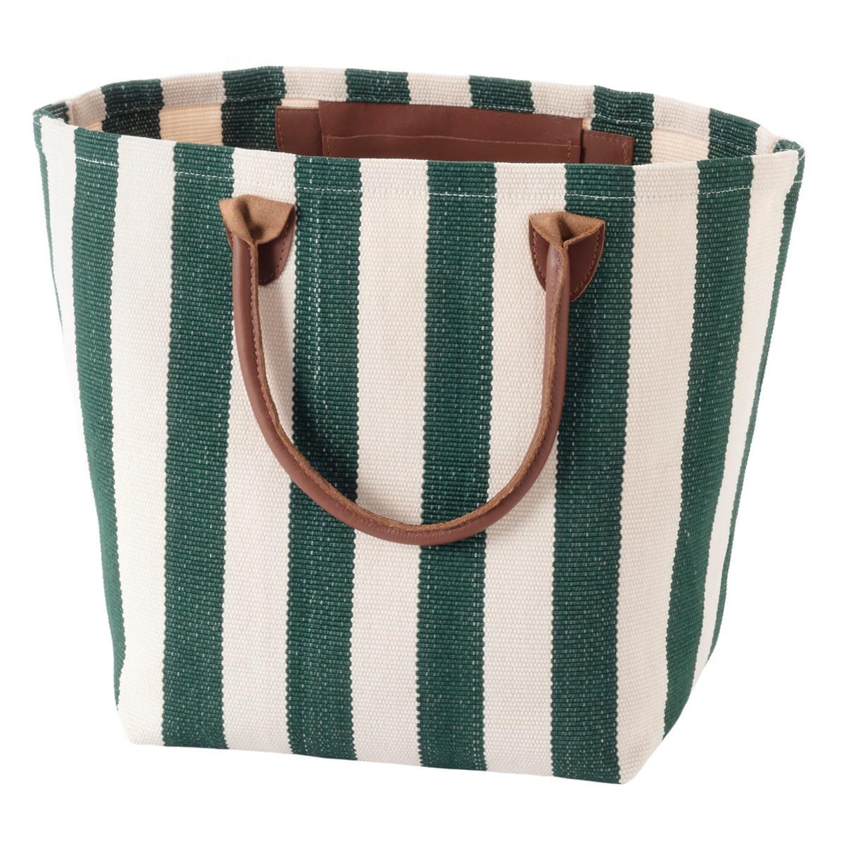 Trimaran Stripe Pine/Ivory Tote Bag