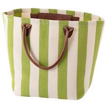 Trimaran Stripe Sprout/Ivory Tote Bag