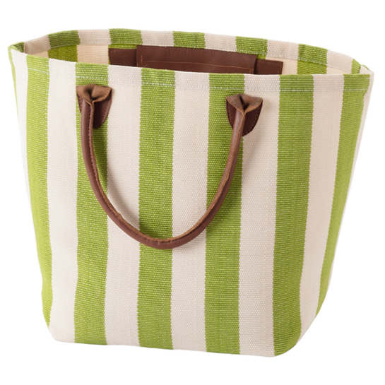 Trimaran Stripe Sprout/Ivory Tote Bag