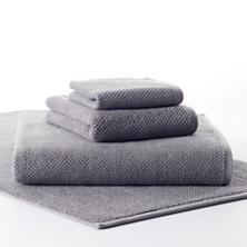 Pin Dot Terry Grey Towel