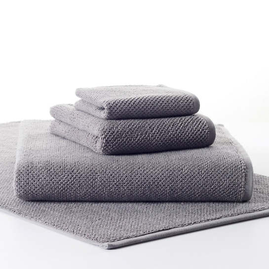 Pin Dot Terry Grey Towel