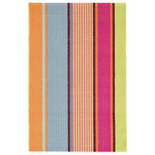 Tahiti Stripe Woven Cotton Rug