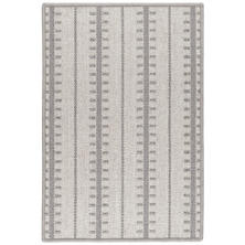 Tailor Stripe Charcoal Woven Wool Rug