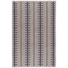 Tailor Stripe Navy Woven Wool Rug