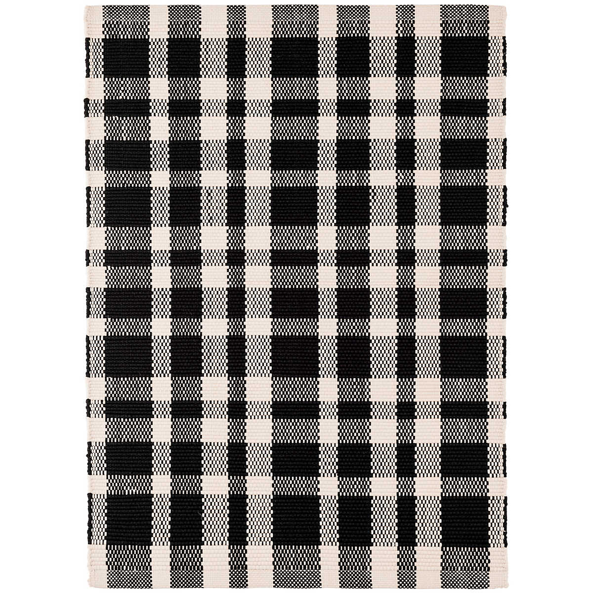 Tattersall Black Indoor Outdoor Rug Dash Amp Albert