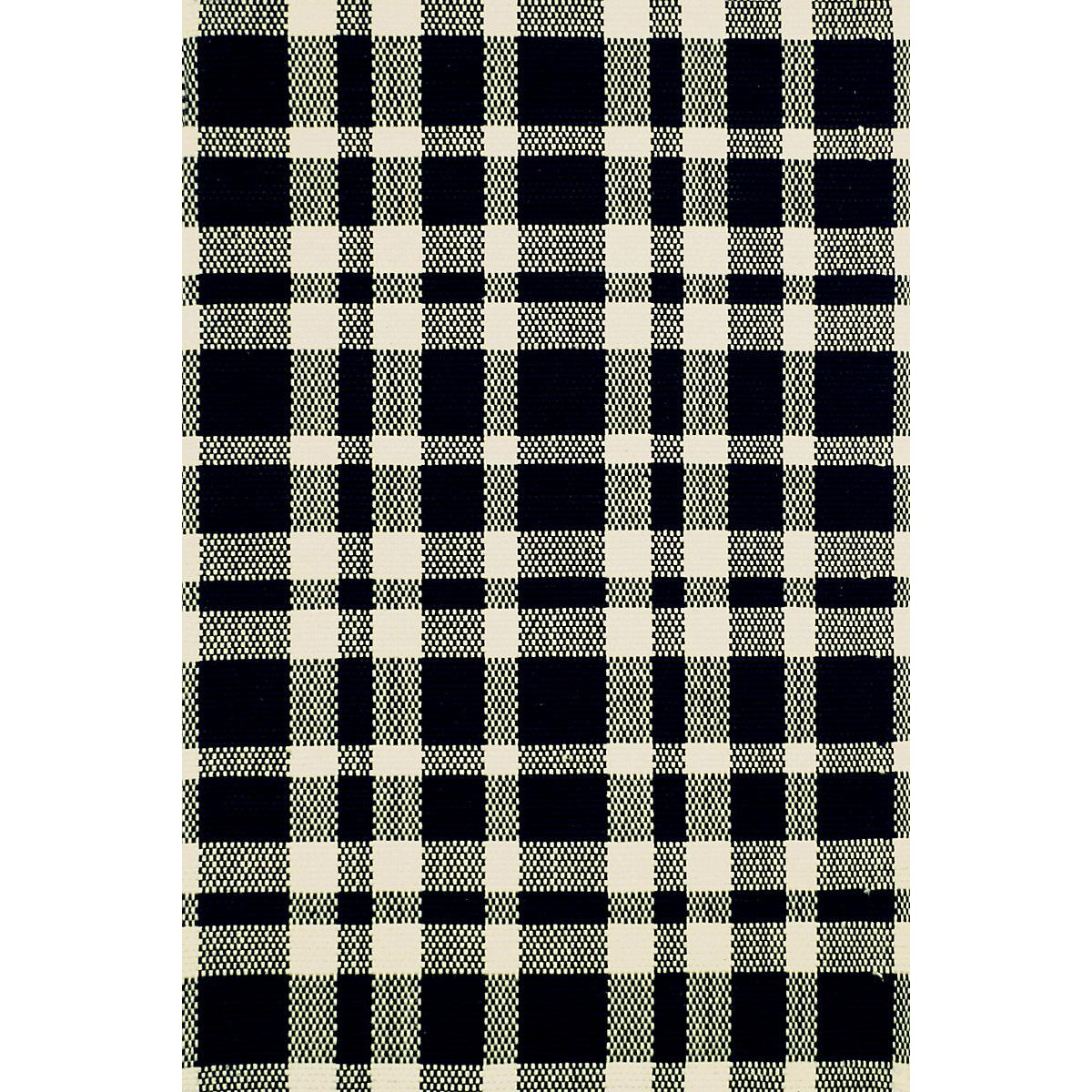 Tattersall Black Ecru Woven Cotton Rug Dash Amp Albert