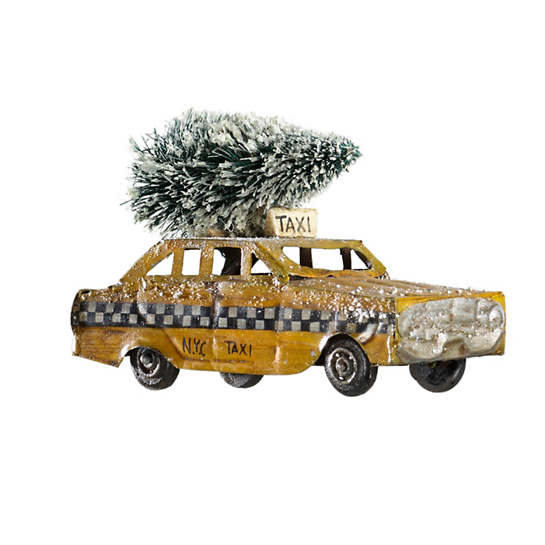 Retro Taxi Ornament