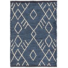 Teca Indigo Woven Wool Rug