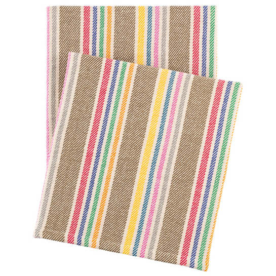 Tempi Stripe Woven Cotton Throw