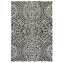 Temple Charcoal Micro Hooked Wool Rug