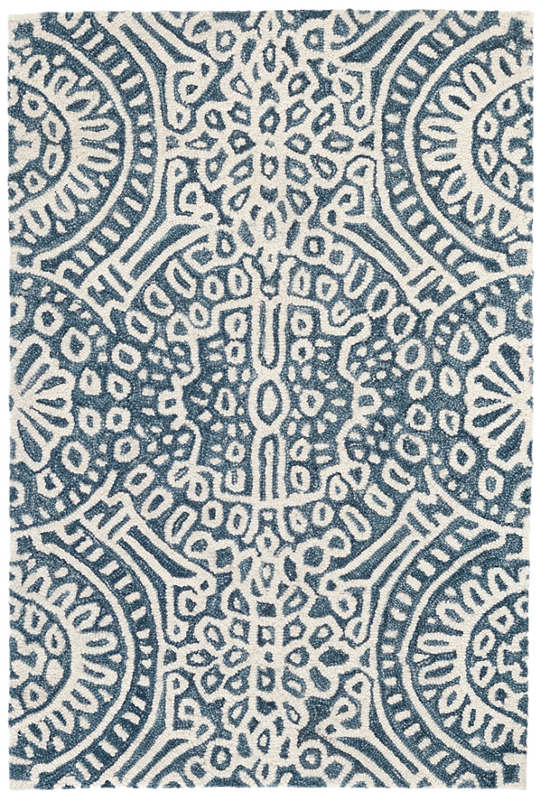 Temple Ink Micro Hooked Wool Rug